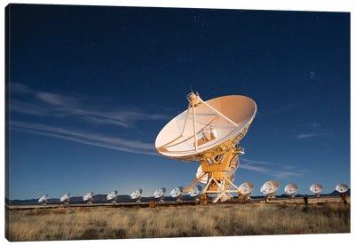 Radio telescopes at an Astronomy Observatory, New Mexico, USA I Canvas Art Print