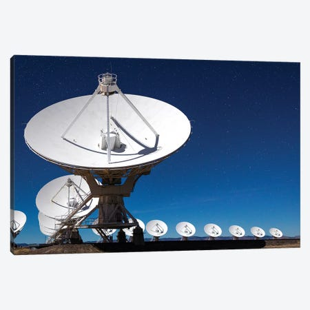 Radio telescopes at an Astronomy Observatory, New Mexico, USA II Canvas Print #MPR7} by Maresa Pryor Canvas Artwork