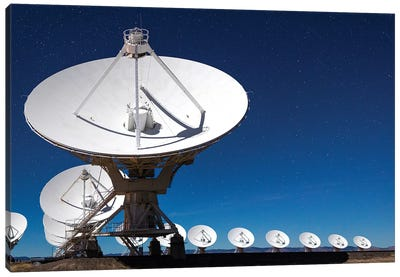 Radio telescopes at an Astronomy Observatory, New Mexico, USA II Canvas Art Print