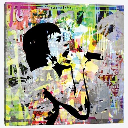 Mick Jagger II Canvas Print #MPS1} by Morgan Paslier Canvas Wall Art