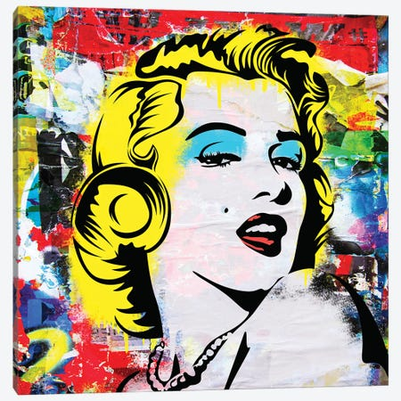 Marilyn And You Canvas Print #MPS8} by Morgan Paslier Canvas Art