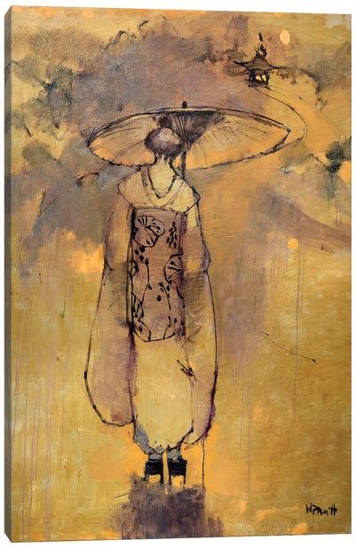 Orange Light Geisha Canvas Art Print