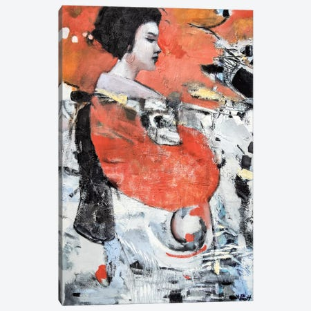Red Sleeve Geisha Canvas Print #MPT24} by Mary Pratt Canvas Artwork