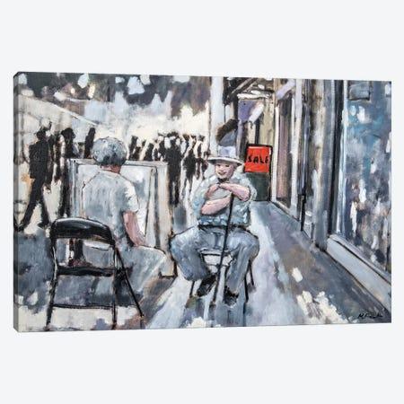 Street Artist Canvas Print #MPT28} by Mary Pratt Art Print