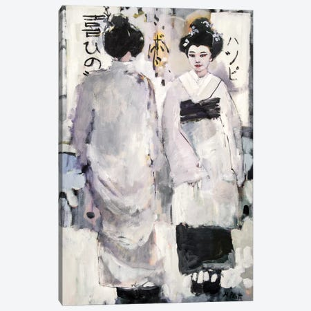 Tonal Geisha 3-Piece Canvas #MPT31} by Mary Pratt Canvas Artwork