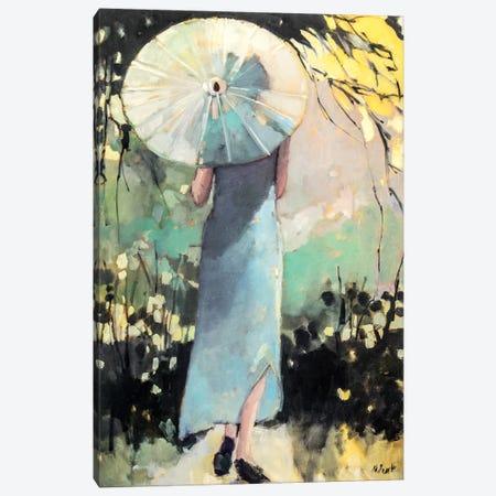 White Parasol Canvas Print #MPT32} by Mary Pratt Canvas Artwork