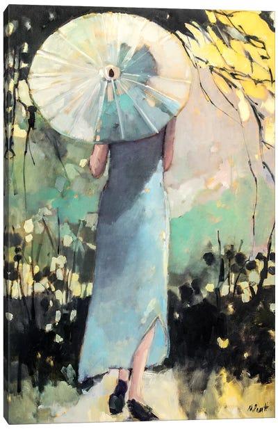 White Parasol Canvas Art Print