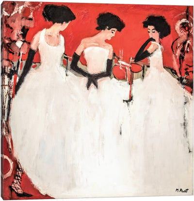 China Red Canvas Art Print