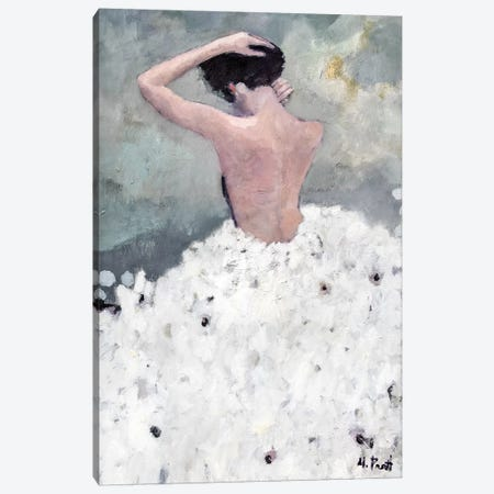 Evening Figure In White Dress Canvas Print #MPT8} by Mary Pratt Canvas Print