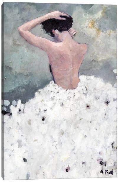 Evening Figure In White Dress Canvas Art Print