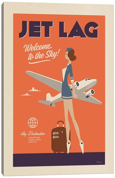 Jet Lag Canvas Art Print