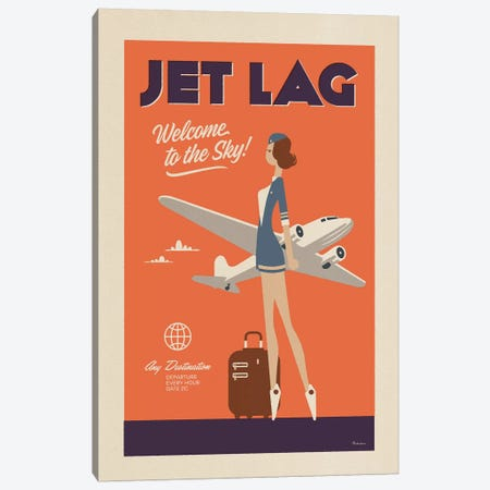 Jet Lag Canvas Print #MRA11} by Misteratomic Canvas Art