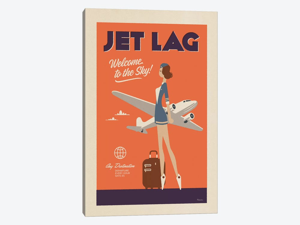 Jet Lag by Misteratomic 1-piece Canvas Artwork