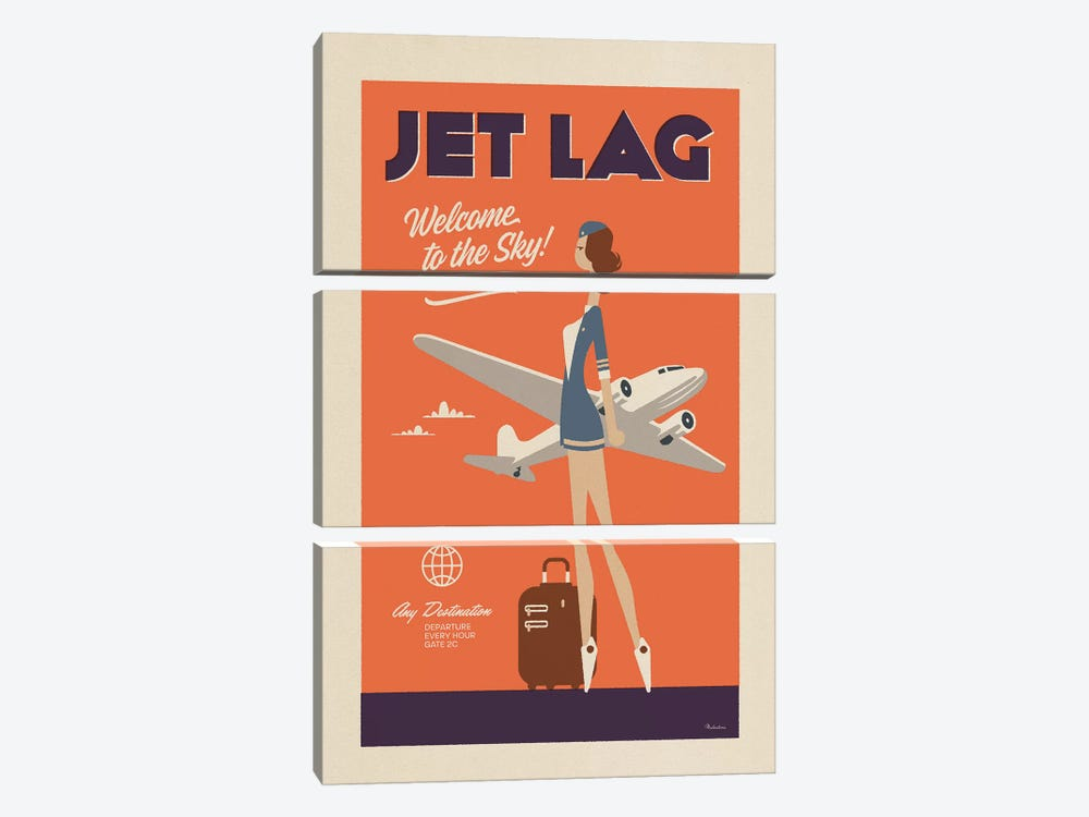 Jet Lag by Misteratomic 3-piece Canvas Wall Art