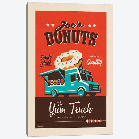 Joe's Donuts Canvas Print #MRA12} by Misteratomic Canvas Wall Art