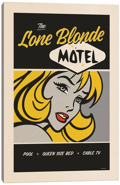 Lone Blonde Canvas Art Print