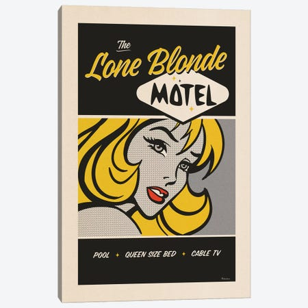 Lone Blonde Canvas Print #MRA13} by Misteratomic Canvas Wall Art