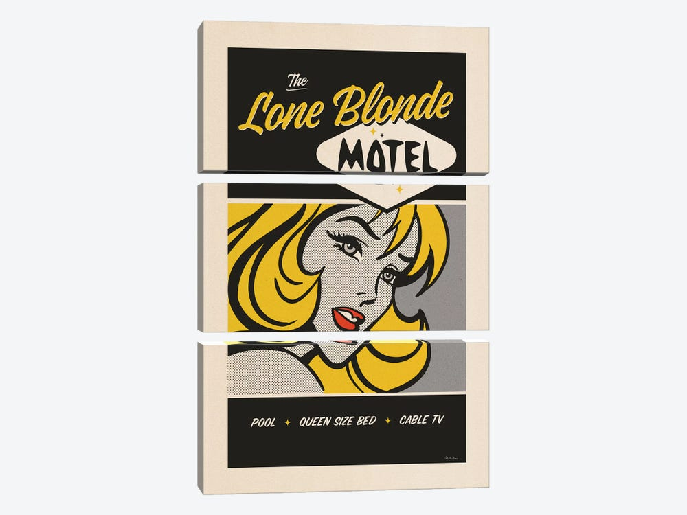 Lone Blonde by Misteratomic 3-piece Canvas Art