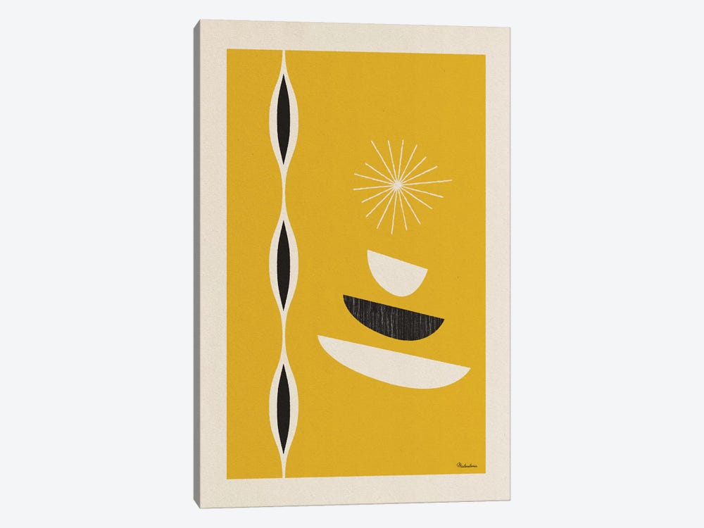Mid Century Sun I by Misteratomic 1-piece Canvas Wall Art