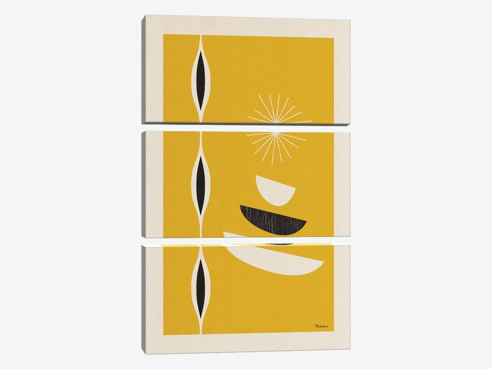 Mid Century Sun I by Misteratomic 3-piece Canvas Artwork