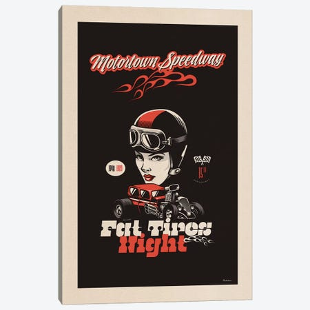 Motortown Canvas Print #MRA17} by Misteratomic Art Print