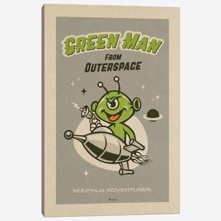 Outerspace Canvas Print #MRA18} by Misteratomic Canvas Art