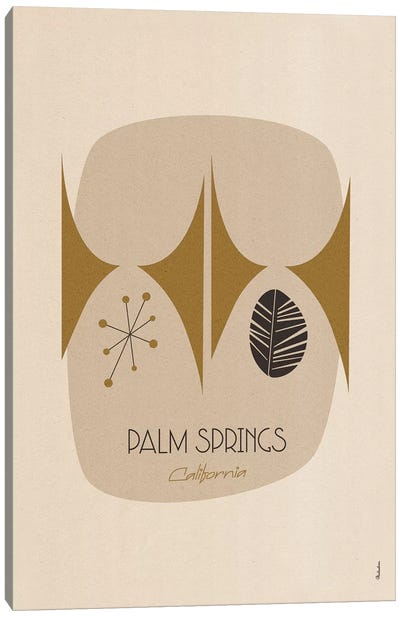 Palm Springs Canvas Art Print