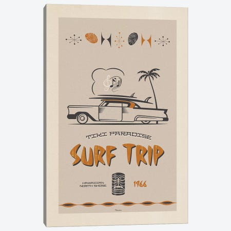 Surf Trip Canvas Print #MRA21} by Misteratomic Canvas Art Print
