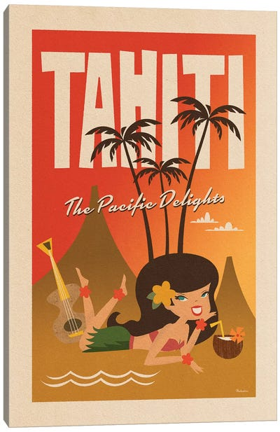 Tahiti Canvas Art Print