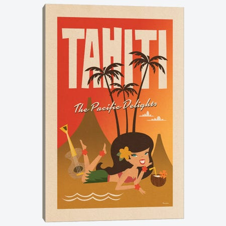 Tahiti Canvas Print #MRA22} by Misteratomic Canvas Print