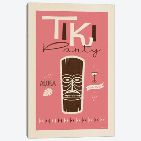Tiki Party Canvas Print #MRA24} by Misteratomic Canvas Art