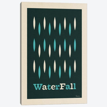 Waterfall Canvas Print #MRA25} by Misteratomic Canvas Artwork