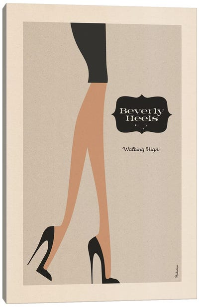 Beverly Heels Day Canvas Art Print