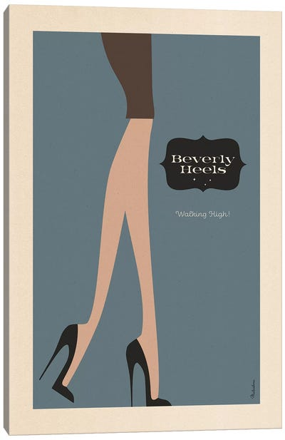 Beverly Heels Night Canvas Art Print
