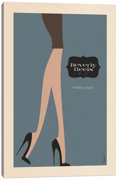 Beverly Heels Night Canvas Art Print