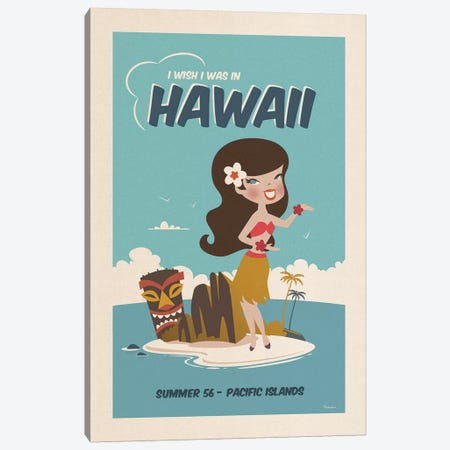 Hawaii Canvas Print #MRA6} by Misteratomic Canvas Wall Art