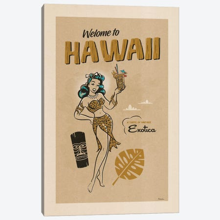 Hawaii Exotica Very Vintage Process Canvas Print #MRA7} by Misteratomic Canvas Wall Art