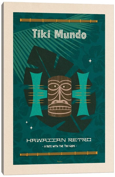 Hawaiian Retro Canvas Art Print