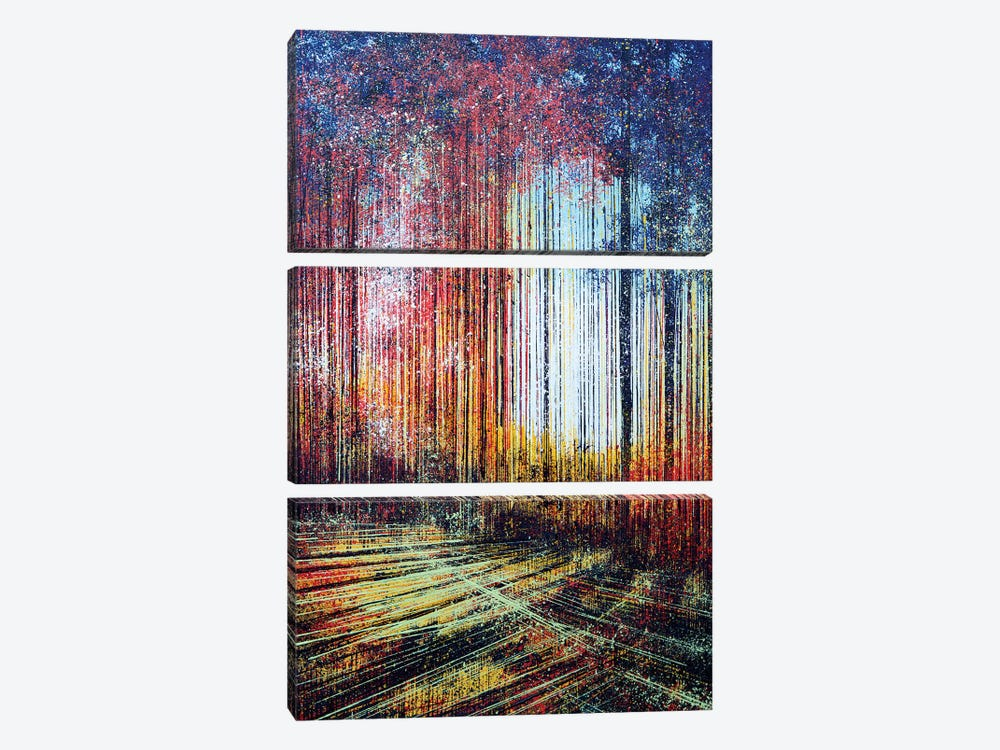 Sunlight Through The Trees by Marc Todd 3-piece Canvas Wall Art
