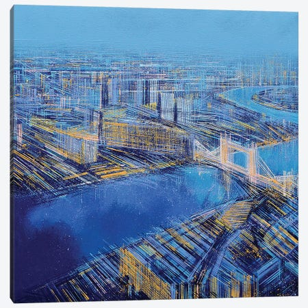 The Blue City Canvas Print #MRC11} by Marc Todd Canvas Artwork