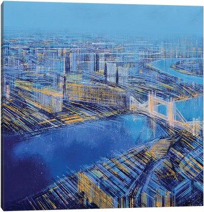 The Blue City Canvas Art Print