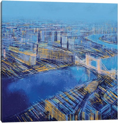 The Blue City Canvas Art Print