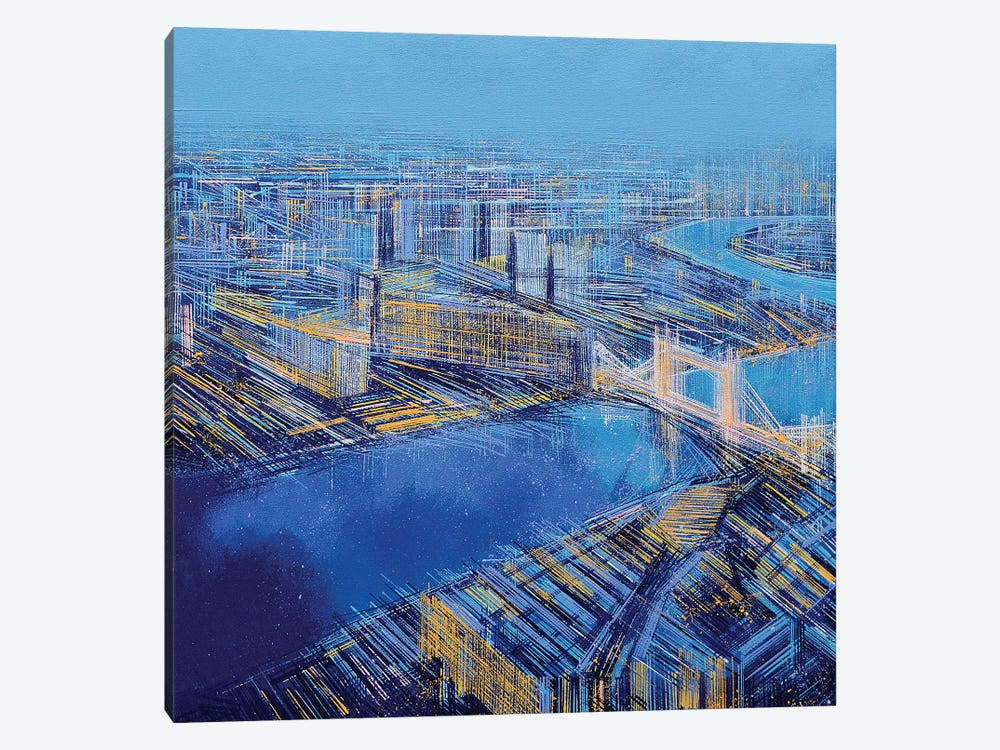 The Blue City by Marc Todd 1-piece Art Print