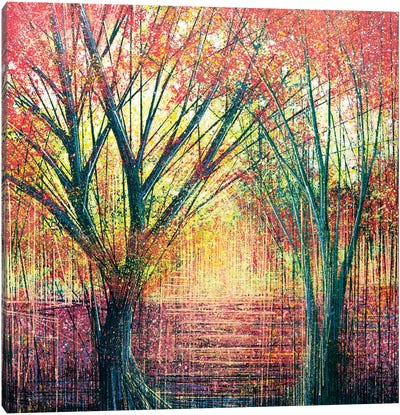 The Red Trees Canvas Art Print
