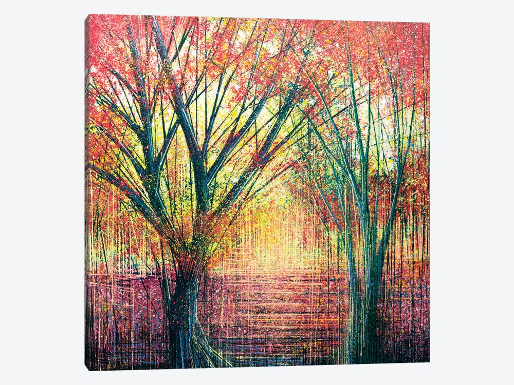 The Red Trees by Marc Todd 1-piece Canvas Print