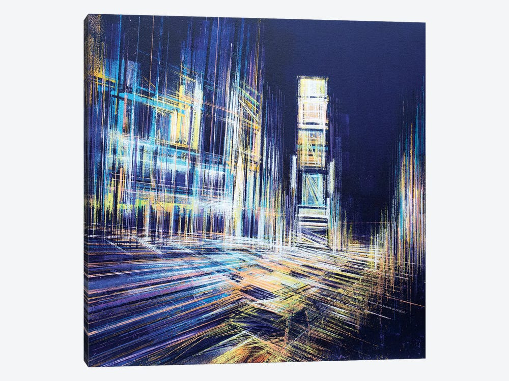 Times Square At Midnight by Marc Todd 1-piece Canvas Art