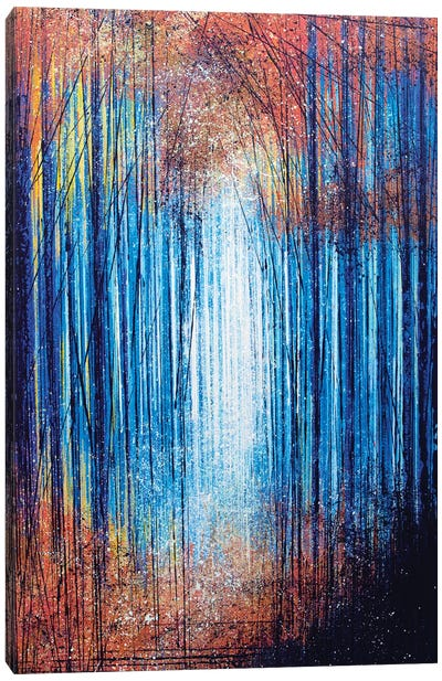 Vivid Light Through Trees Canvas Art Print