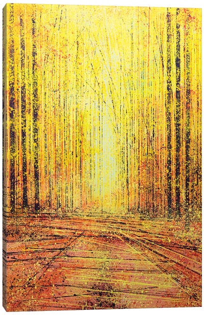 Vivid Yellow Light Canvas Art Print