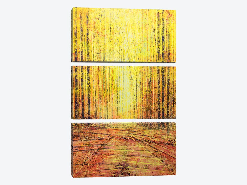 Vivid Yellow Light by Marc Todd 3-piece Canvas Art Print