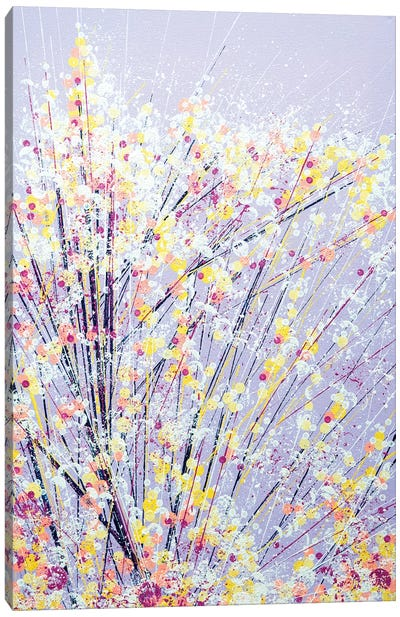 Blossom Under A Lilac Sky Canvas Art Print